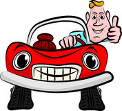 Smiling and happy  driver Royalty Free Stock Images