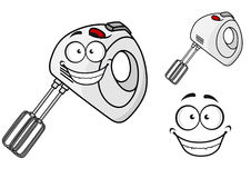 Smiling happy electrical egg beater Royalty Free Stock Photo
