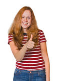 Smiling happy girl Stock Image