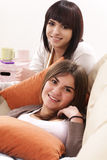 Smiling and happy girls Stock Image