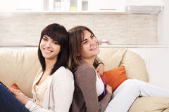 Smiling and happy girls Royalty Free Stock Images