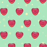 Smiling happy hearts Royalty Free Stock Image