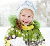 Girl winter vacation Stock Image
