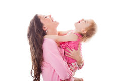 Smiling happy mother and daughter Royalty Free Stock Images