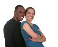 Smiling Happy Multi Racial Couple Stock Images