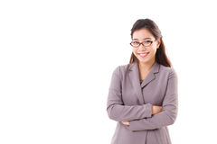Smiling, happy, positive business woman with eyeglasses Stock Images