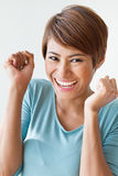 Smiling, happy, positive, excited woman Stock Image