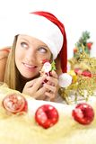 Smiling happy santa claus Stock Photography