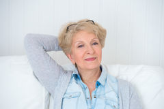 Smiling happy senior woman Royalty Free Stock Photography