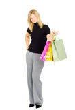 Smiling happy shopping lady Stock Image