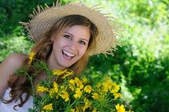 Smiling happy in springtime Stock Image