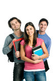 Smiling happy students Stock Photo