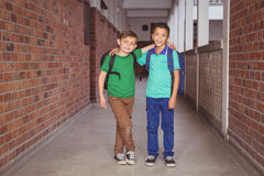 Smiling happy students looking at the camera Royalty Free Stock Photo