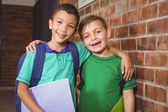 Smiling happy students looking at the camera Royalty Free Stock Images