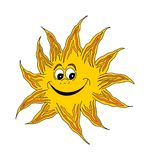 Smiling happy sun vector illustration
