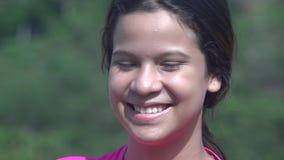 Smiling Happy Teen Girl stock video