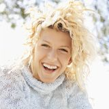 Smiling happy woman Royalty Free Stock Photo