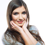 Smiling happy woman portrait Stock Image