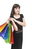 Smiling Happy Woman With Shopping Bags Stock Photography