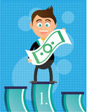 Smiling, happy, young, businessman, standing on Stock Images