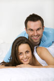 Smiling happy young couple Stock Image