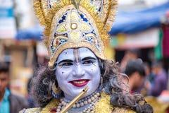 Smiling Hare Krishna royalty free stock photos