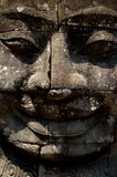 Smiling head. Smiling giant head of bayon temple angkor cambodia Royalty Free Stock Images