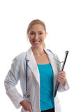 Smiling healthcare worker Stock Image