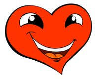 Smiling heart Royalty Free Stock Photos