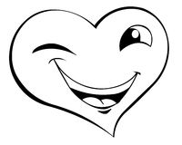 Smiling heart. A cute smiling heart face Royalty Free Stock Photography
