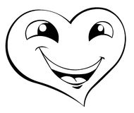 Smiling heart. A cute smiling heart face Stock Images