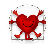Vitruvian heart Royalty Free Stock Photos