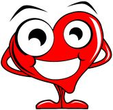 Smiling heart cartoon Stock Image
