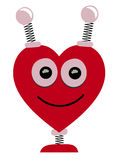 Smiling Heart Shaped Robot Head Vector Cartoon Royalty Free Stock Images