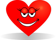 Smiling heart Stock Images