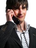 Smiling helpdesk operator Royalty Free Stock Image