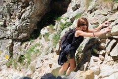 Smiling hiking girl Royalty Free Stock Images