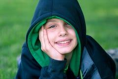 Smiling hip-hop dancer Stock Photos