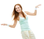 Smiling Hip-Hop Dancer Girl Posing Royalty Free Stock Images