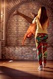 Smiling hip-hop dancer performing. Moves Stock Image