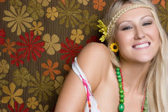 Smiling Hippie Girl Stock Photography