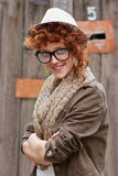 Smiling hipster girl. Expressing positivity. It's all good with her Stock Photos