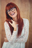 Smiling hipster woman posing face to the camera Stock Images