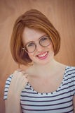 Smiling hipster woman wearing glasses Stock Image