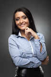 Smiling hispanic businesswoman Stock Photo