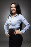 Smiling hispanic businesswoman Stock Images