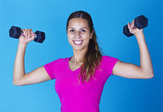 Smiling Hispanic Fitness Woman Royalty Free Stock Photography