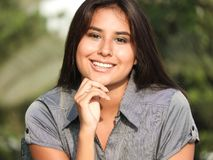 Smiling Hispanic Girl. A young hispanic female teenager Royalty Free Stock Photo