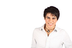 Smiling Hispanic Teen. This Handsome hispanic teen is smiling for the camera. More of this model in my port Royalty Free Stock Images