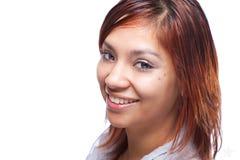 Smiling Hispanic Woman. A latino woman smile for a headshot royalty free stock photos
